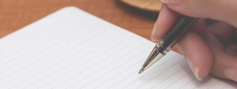 書き方の練習中